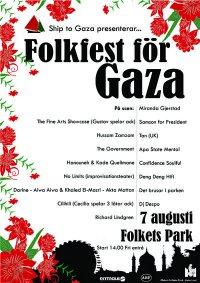 Folkfest för Gaza